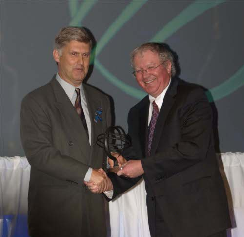 Peter Conlon accepts Export Growth Through New Product Development Award