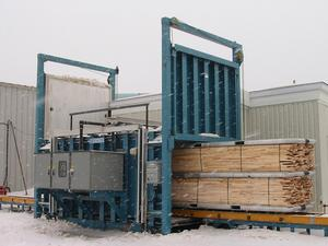 RF vacuum kiln / HF dielectric drying amplifier for drying lumber